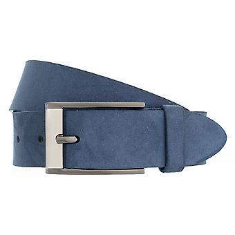BERND GÖTZ Belt Men's Belt Leather Belt Suede Blue 4833