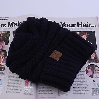 Automne Hiver Coton Tricoté Bonnet Confortable Extérieur Unisexe Garder CapUchon Chaud