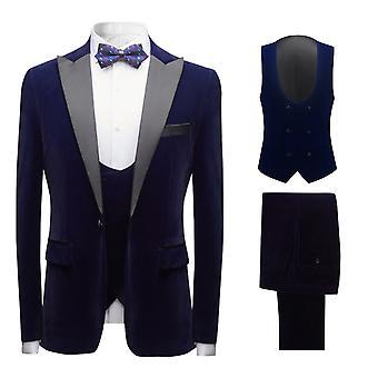 Mile Mens Mens Tuxedo Suits 3 Pieces Dinner Suit Wedding Formal Notched Lapel Blazer &trousers& Waistcoat