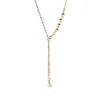 Freshwater Pearl Necklace 925 Sterling Silver Necklaces For Women Tassel Gold  Necklaces