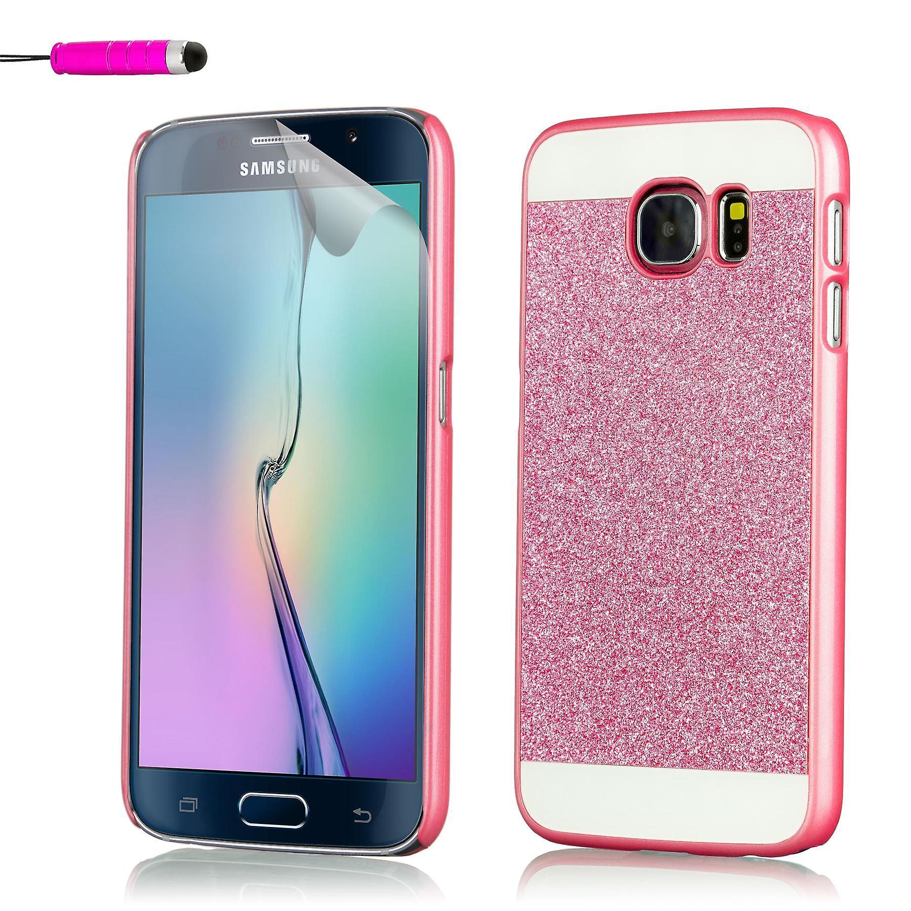 Glitter case + stylus for Samsung Galaxy S7 Edge SM-G935 - Hot Pink