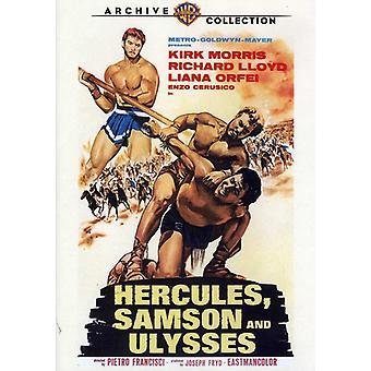 Hercules Samson & Ulysses (1965) [DVD] USA importerer