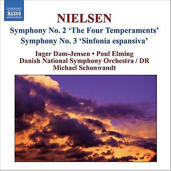 C. Nielsen - Carl Nielsen: Symphonies Nos. 2 the Four Temperaments & 3 Sinfonia Espansiva [CD] USA import