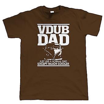 Vdub Dad Campervan T Shirt - Split Screen Gift para o aniversário do pai