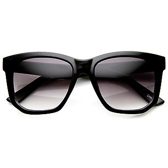 Retro Fashion High Temple Bold Rim Horn Rimmed Sunglasses