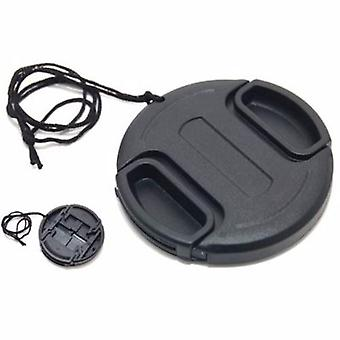JJC 86mm Plastic Snap-on Lens Cap with lens cap keeper for Cameras and Camcorders