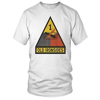 US Army gamle Ironsides 1. panserdivisjon Grunge Kids T skjorte