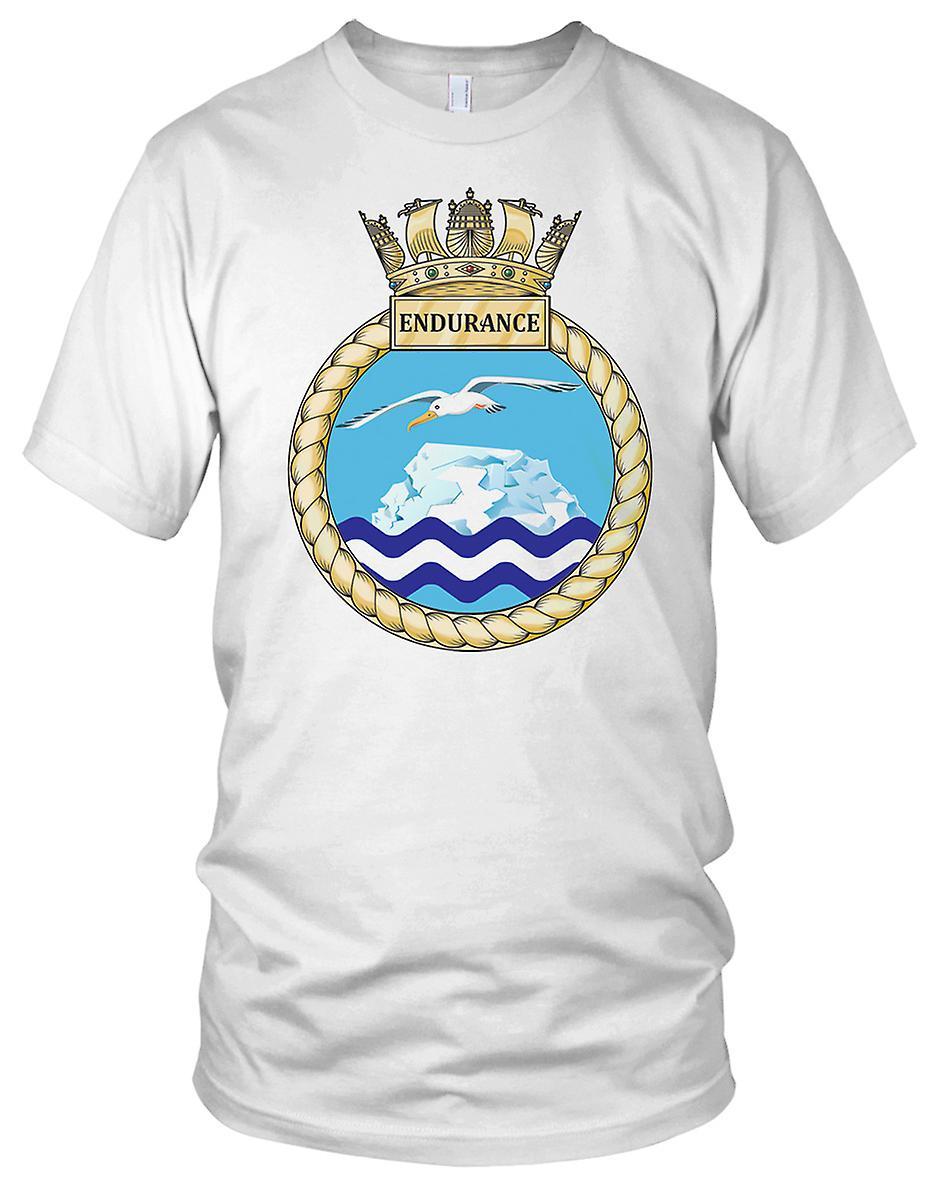 Royal Navy HMS utholdenhet Mens T-skjorte