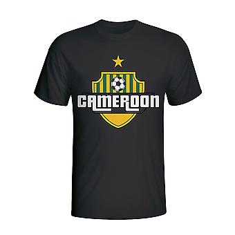 Cameroon Country Logo T-shirt (black)