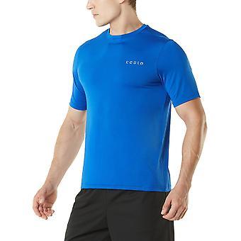 TSLA Tesla MTS04 HyperDri Short Sleeve Athletic T-Shirt - Solid Blue