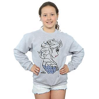 Disney Girls Frozen Elsa Sketch Sweatshirt