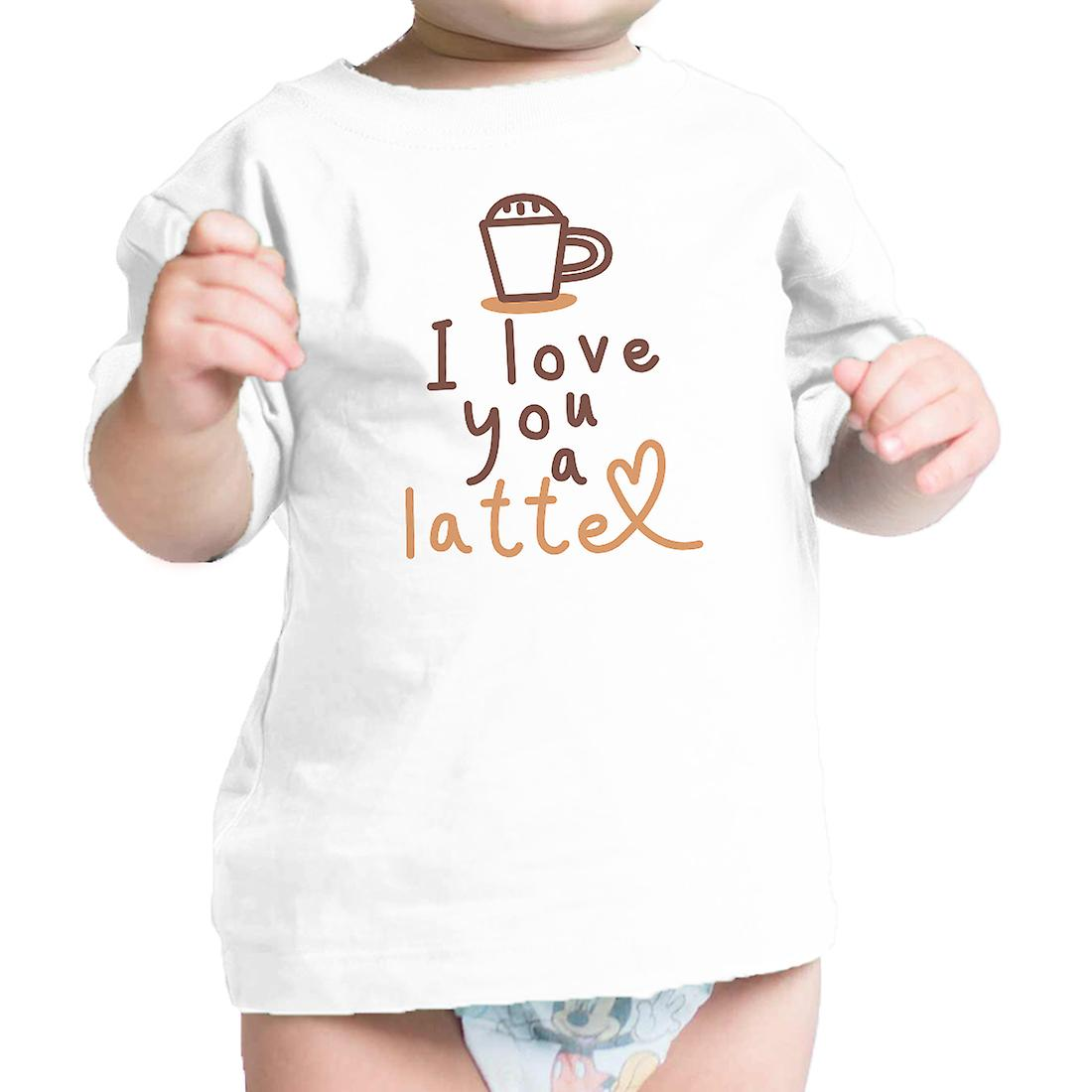 Love A Latte Infant Gift Tee Shirt White