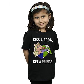 Ragazze Disney Muppets baciare una rana t-shirt