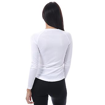 Womens adidas D2m Long Sleeve T-Shirt In White
