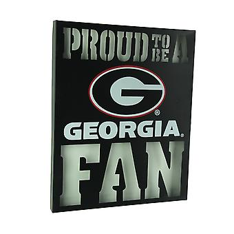 Proud To Be A Georgia Fan Cutout Metal Wall Sign