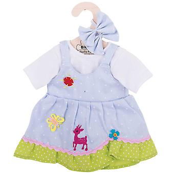 Bigjigs Toys Spotted Rag Doll Dress (38cm) Soft Ragdoll Outfit