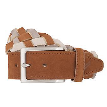 DANIEL HECHTER belts men's belts leather belt woven belt beige 6873