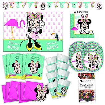 Disney Minni MausTropical Party Partybox 57-teilig Minnieparty Partypaket