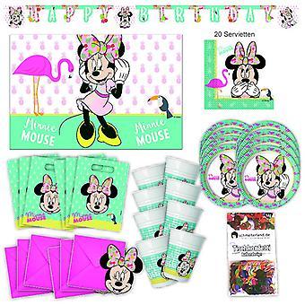 Disney Minni MausTropical party party box 57 - teilig Minnieparty Strona pakiet