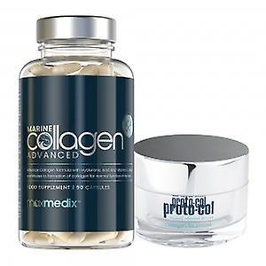 Marine Collagen Combo - Collagen Supplement & Facemask Duo - 90 Capsules & 50ml Cream