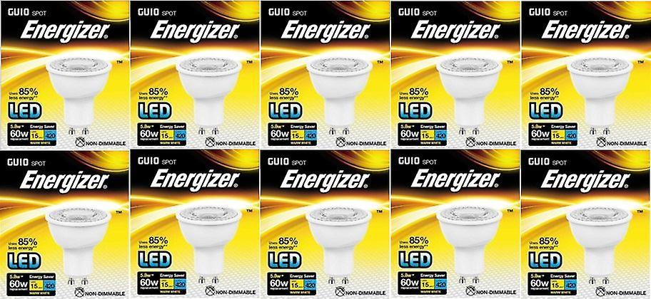 20 X Energizer LED Energy Saving Lightbulb GU10 5.8w = 60w Warm White[Energy Class A+]