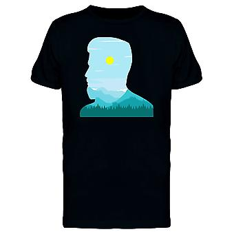 Man Silhouette And Landscape Tee Men's -Image by Shutterstock