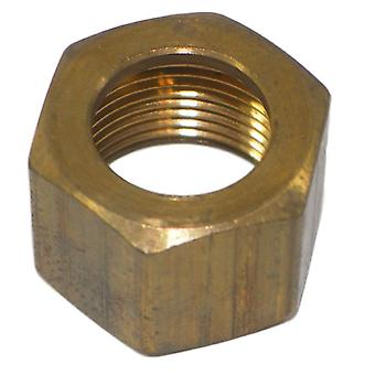 Big A Service Line 3-161700 7/16 Tube End, Brass Compression Nut