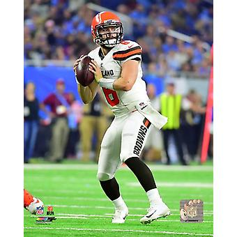 Baker Mayfield 2018 Action Photo Print