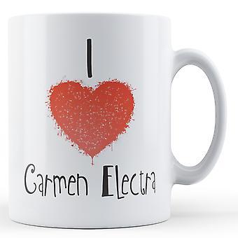 Decorative Writing I Love Carmen Electra Printed Mug