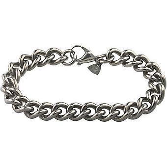Ti2 Titanium klobige Bordstein Armband - Silber