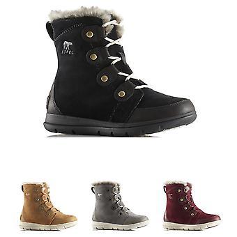 Womens Sorel Explorer Joan Wateproof Suede Winter Snow Rain Ankle Boots