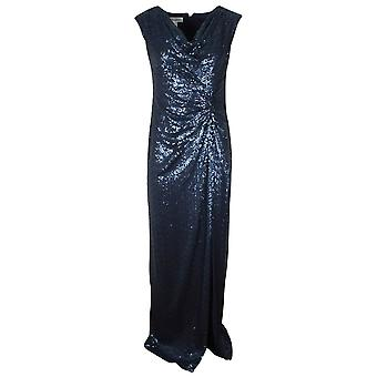 Veromia Occasions Blue Full Length Sequin Evening Dress