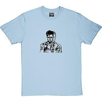 Tyler Durden Fight Club Light Blue miesten ' s T-paita