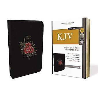KJV, Bíblia de referência de luxo, impressão Super gigante, imitação de couro, preto, carta indexado, Red Edition, conforto imprimir
