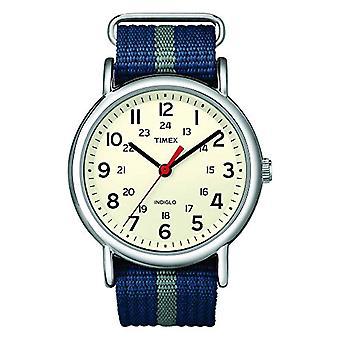 Timex Uhr Analogueico Quarz Damen mit Nylon Gurt T2N654