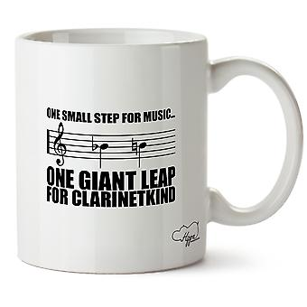 Hippowarehouse One Small Step For Music...One Giant Leap For Clarinetkind Clarinet Player Printed Mug Cup Ceramic 10oz