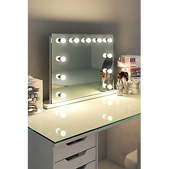 Diamond X Mesa Top Hollywood Maquillaje Audio Mirror con sLED k95sCWaud