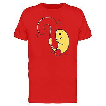 Küken mit einem Fragezeichen T-Shirt Herren-Bild von Shutterstock