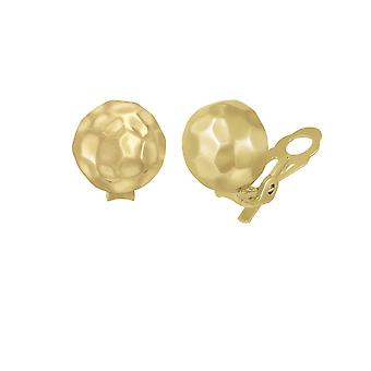 Eternal Collection Beaufort Dappled Gold Tone Dome Stud Clip On Earrings