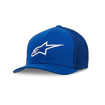 Alpinestars Mens stretch Mesh Trucker curbă cap ~ Ageless albastru/alb