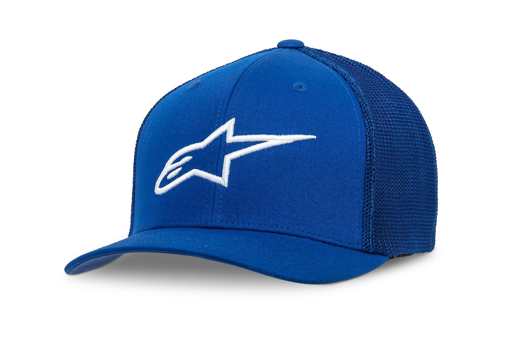 Alpinestars Mens Stretch Mesh Trucker Curve Cap ~ Ageless blue/white