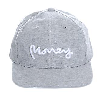 Boys Money Black Label Cap In Grey- Tonal Upper - Button To Top- Perforations