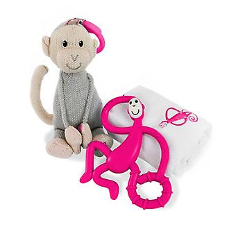 Matchstick Monkey Teething Gift Set, Pink