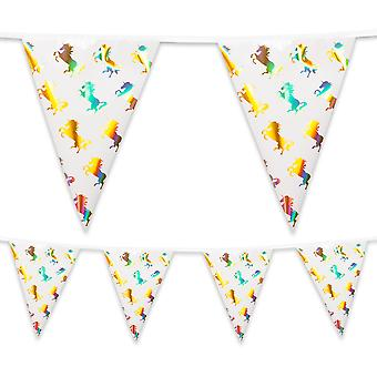4 Metre Foil Bunting Unicorn Party Decoration
