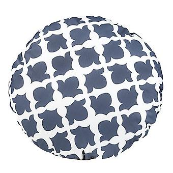 Gardenista® Arabesque Charcoal Design Water Resistant Round Scatter Cushion