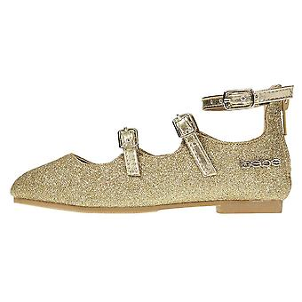 bebe Toddler Girls Ballet Flats Glittery with Elastic Strap Mary Jane