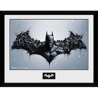 Batman Comic oorsprong ingelijst Collector Print 40x30cm