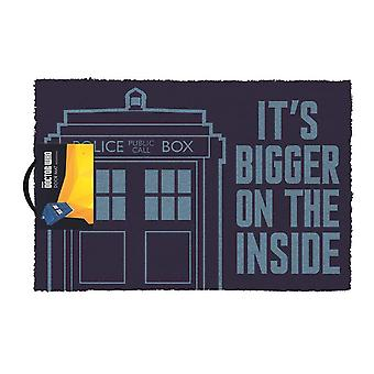 Doctor who - it's bigger on the inside - doormat