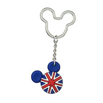Key Chain - Disney - Mickey Flag Icon Ball Key Ring - England New 85719