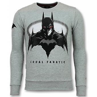 باتمان سترة - باتمان سترة - البلوزات - رمادي